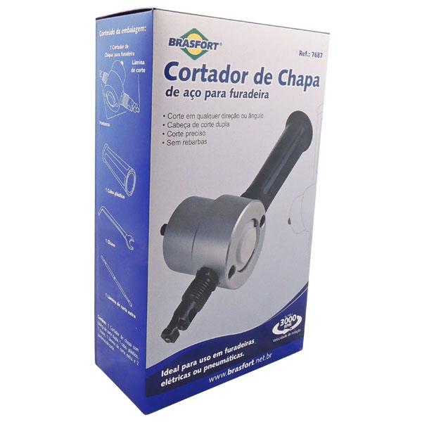 CORTADOR DE CHAPA DE AÇO PARA FURADEIRA