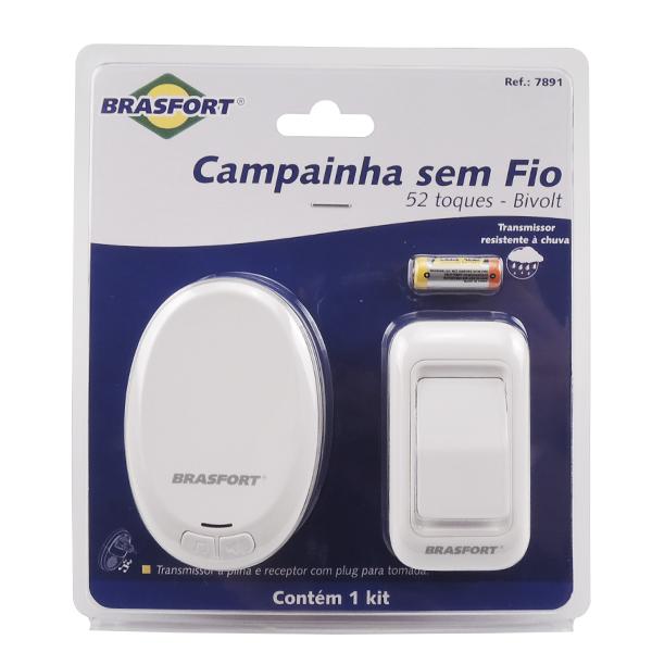 CAMPAINHA SEM FIO PILHA / TOMADA